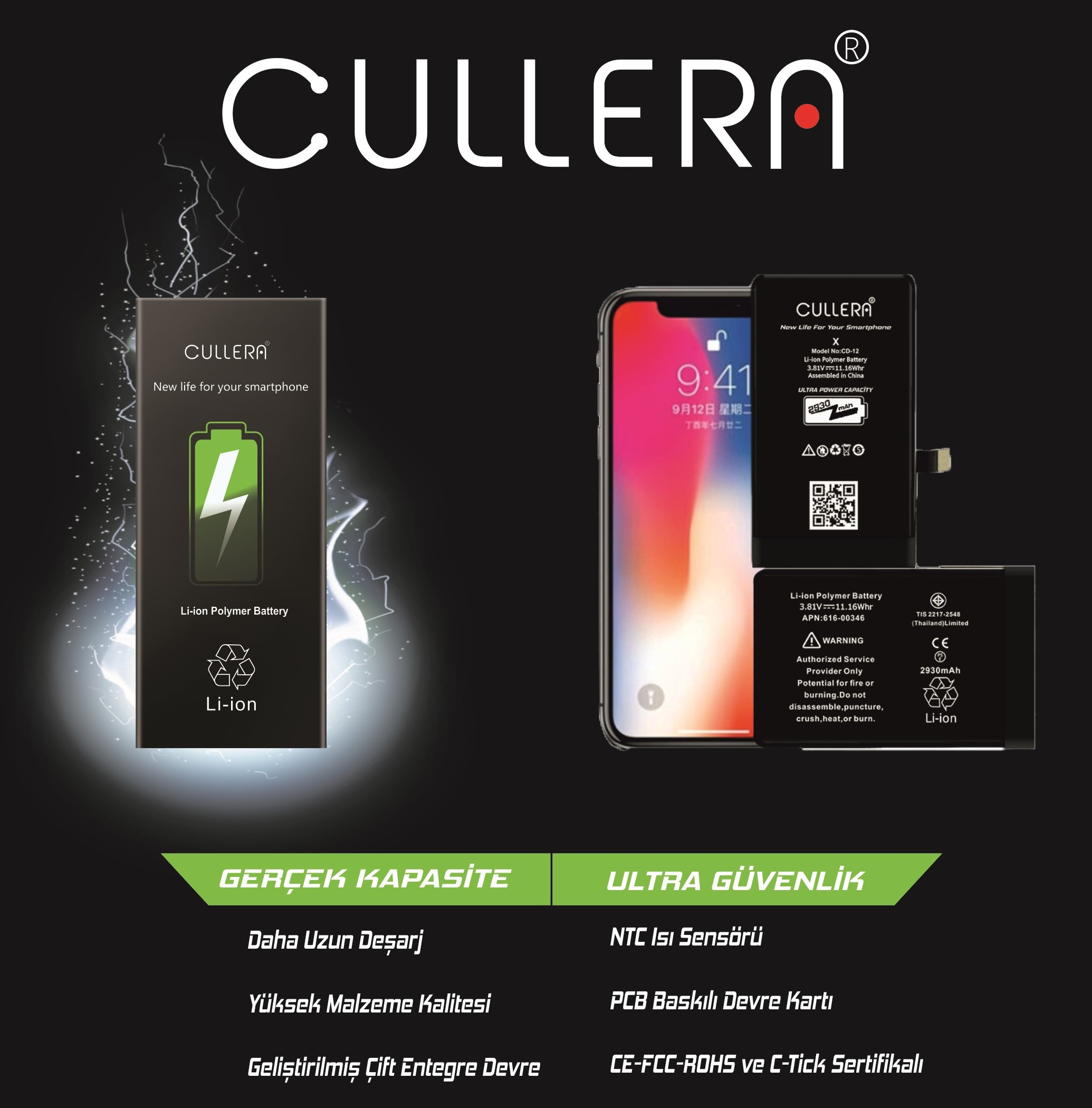CULLERA 6G PLUS HIGH CAPACTY BATTERY CD-06